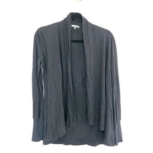 James Perse Gray Open Drape Cardigan Size M